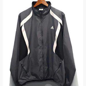 Adidas Windbreaker Stripe Track Jacket Zip Pocket